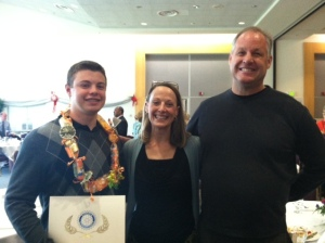 KJ, with his proud parents Sandra and Ken Neville
